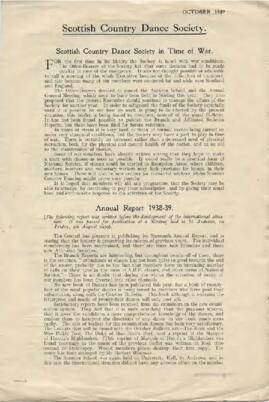 Bulletin No 16 October 1939