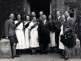 Photograph of the International Team, taken outside