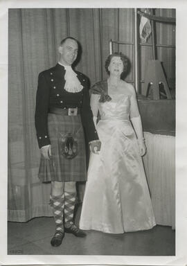 Photograph of David and Janetta Huxley  at the Washington Ball
