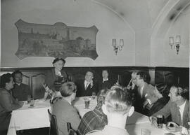 Photograph of Jean Milligan with members of the International Team in Bavaria