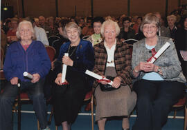 Photograph of Scroll recipients at the AGM 2009