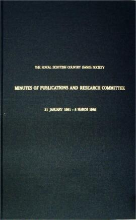Minute book of the Publications and Research Committee