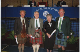 Photograph of Scroll recipients at AGM, 2003