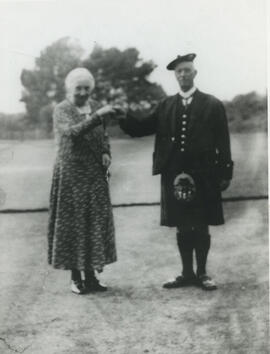 Photograph of Annie Shand and 'Dancie' John Reid