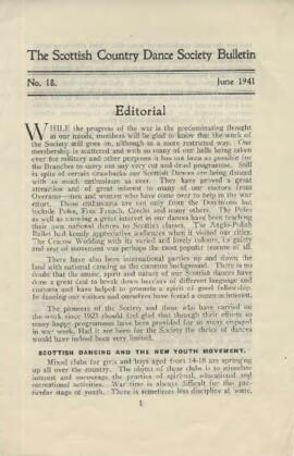 Bulletin No. 18, June 1941