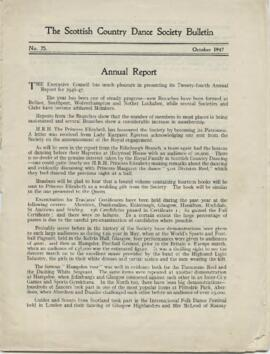 Bulletin No. 25, October 1947
