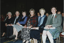 Photographs of Scroll recipients at the AGM 2001