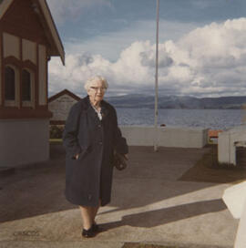 Photograph of Jean Milligan taken during a visit to New Zealand