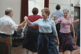 Photograph of Mary Murray dancing in the Seniors class