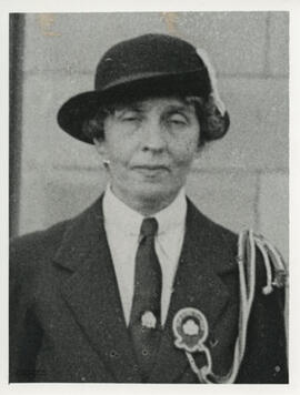 Photograph of Lilias Dalmahoy founder member of Edinburgh Branch