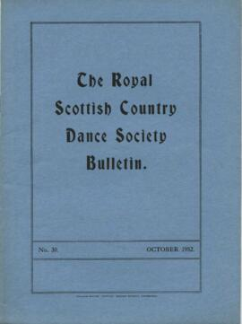 Bulletin No. 30, October 1952