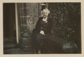 Photograph of Jean Milligan outside University Hall