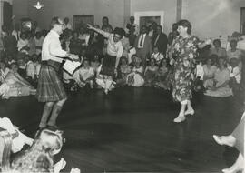 Photograph of Alastair Aitkenhead and Joan Tyler taken at a ceilidh