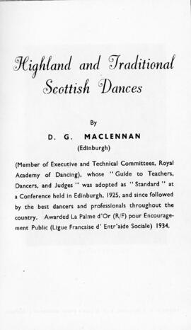 Highland and Traditional Scottish Dances
