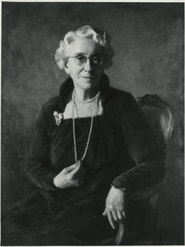 Photographs of Jean Milligan's portrait
